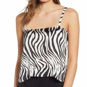 Zebra satin cami ✨